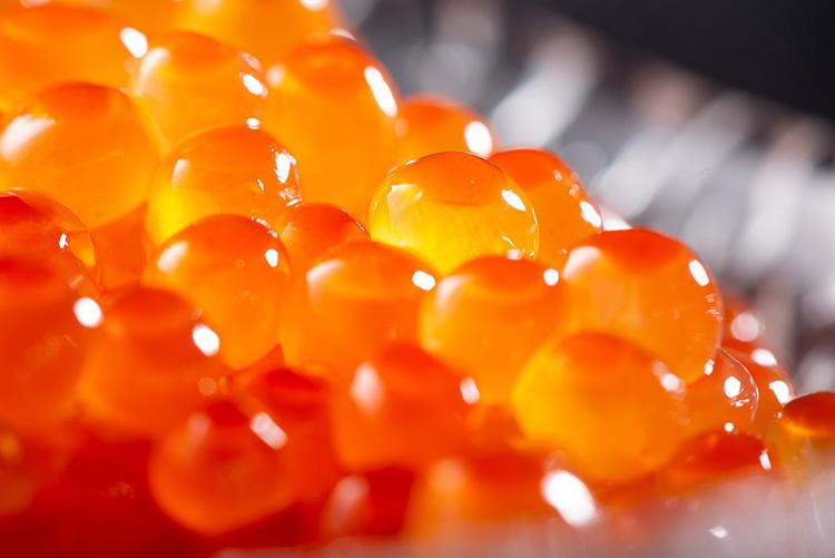 きれいなオレンジ色のいくらの画像