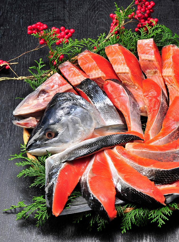 紅鮭姿切身