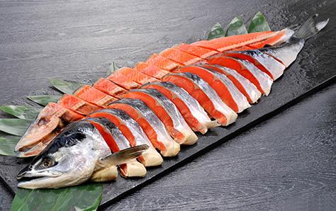 紅鮭 姿切身