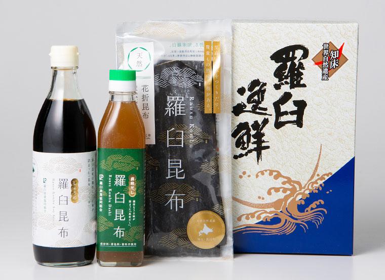 天然 羅臼昆布・昆布だし・昆布醤油セット(北海道 羅臼産)