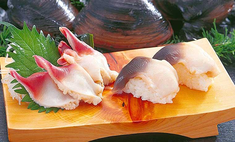 北寄貝のお寿司