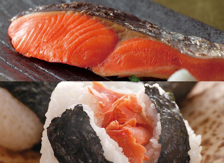 調理例 おむすび 焼き鮭