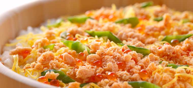 鮭いくらちらし寿司