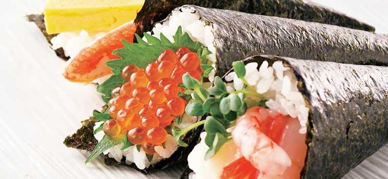 いくら手巻き寿司