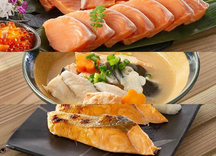 船上活〆時鮭食べ尽くしセット