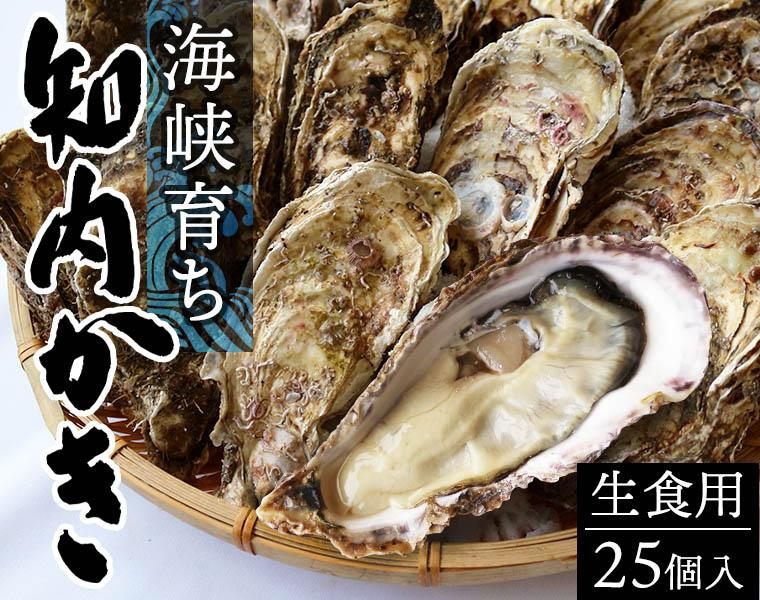海峡育ち知内かき(生食用・25個入)