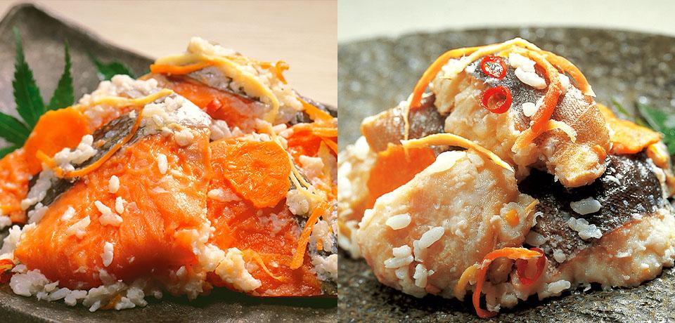 紅鮭飯寿司 ほっけ飯寿司