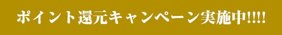 ポイント還元キャンペーン実施中!!!!
