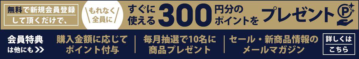 無料会員登録ですぐに使える300ポイント進呈中!